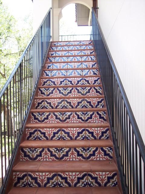 Mexican Tile mediterranean-staircase