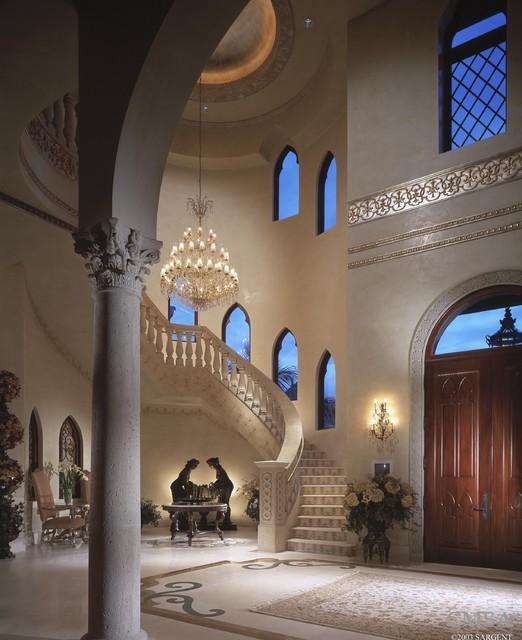 Mediterranean Grand Foyer : Mediterranean staircase