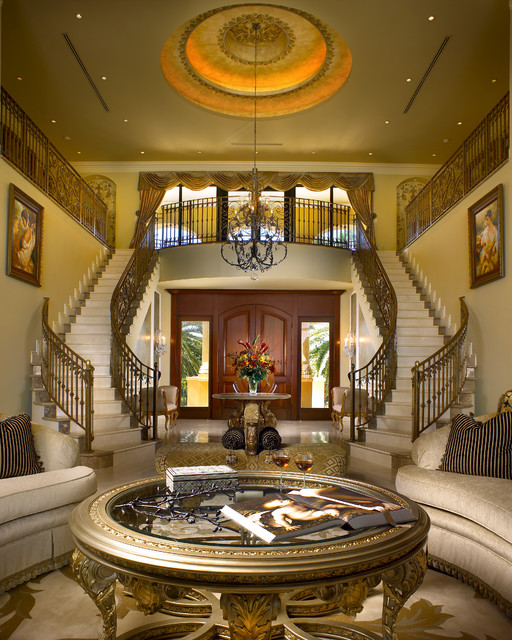 Coral Gables Mansion Mediterranean Staircase Miami