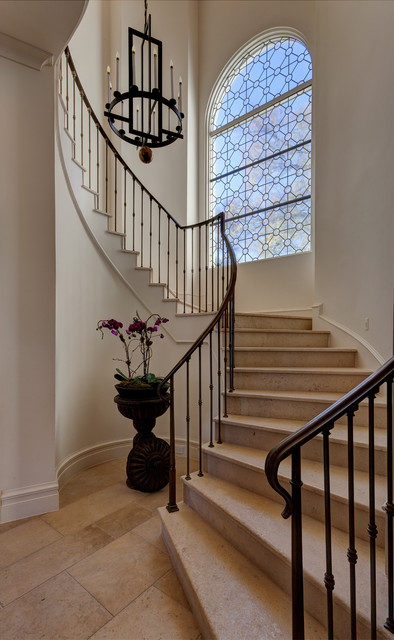 Woodland Estate Mediterranean Staircase Dallas By