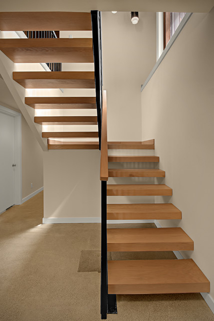 Top Mercer Island Midcentury Modern With Compact Staircase Designs.