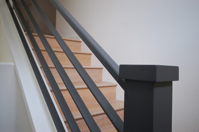 Metal Railing Detail Modern Staircase