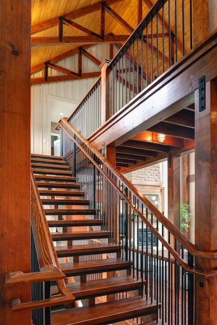 Meyer's house in Powell, Ohio contemporary-staircase
