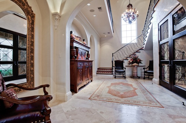 MICHAEL MOLTHAN LUXURY HOMES INTERIOR DESIGN GROUP Mediterranean Staircase