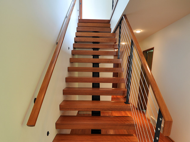 Mid Century Addition modern-staircase