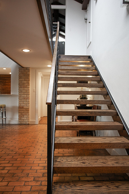 Mid Century Modern Midcentury Staircase Dallas By
