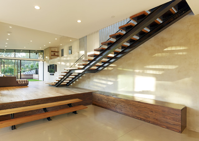 Mill Valley CA MODERN ADDITION TO MID CENTURY MODERN HOME - Modern - Staircase - san francisco ...