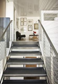 Millennium Tower Loft- Stair case modern staircase