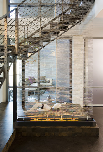 Millennium Tower Loft- Stair case contemporary-staircase