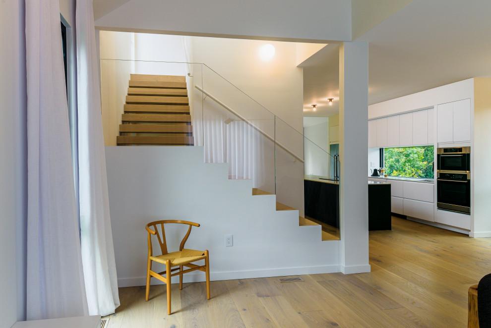 Inspiration for a scandinavian staircase remodel in Philadelphia