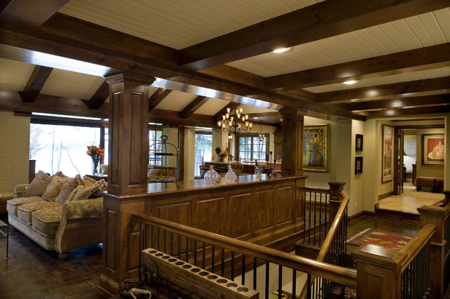 Minnetrista Residence traditional-staircase