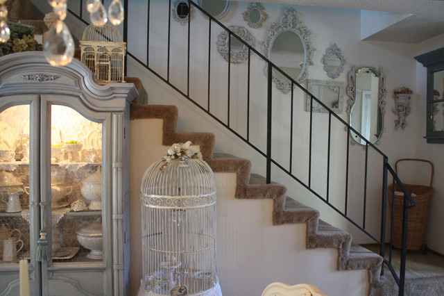 eclectic staircase by My Romantic Home