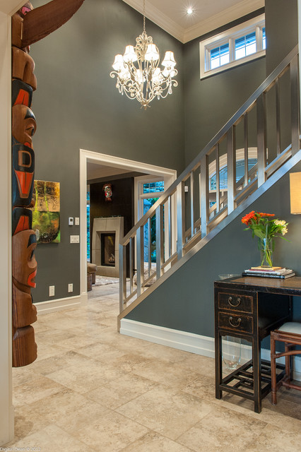 Mission Kelowna Bc Contemporary Staircase Vancouver By Okanagan Dream Builders Ltd