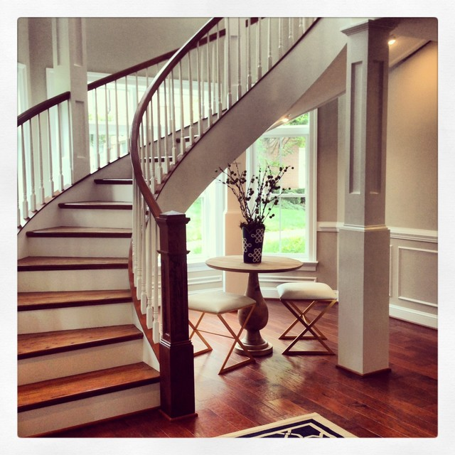 Elegant Model Home, Monument Square RVA Modern Staircase