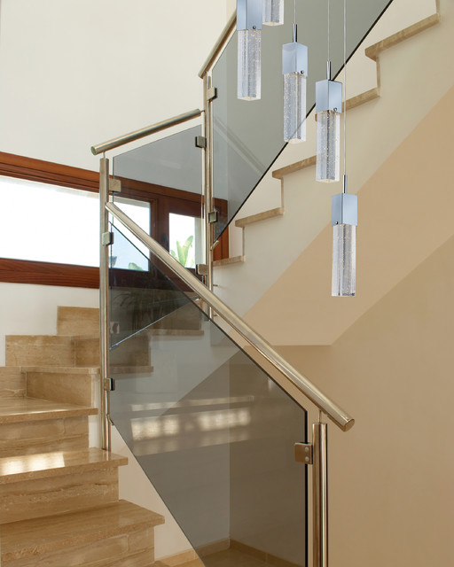Awesome Modern Art Deco Staircase W. ET2 Lighting Fizz Bubble Glass Multi Pendant  Lights Modern