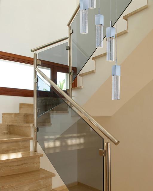 Pendant Lighting For Staircase : Modern art deco staircase w et lighting fizz bubble
