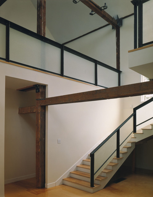 Modern Barn Renovation modern-staircase