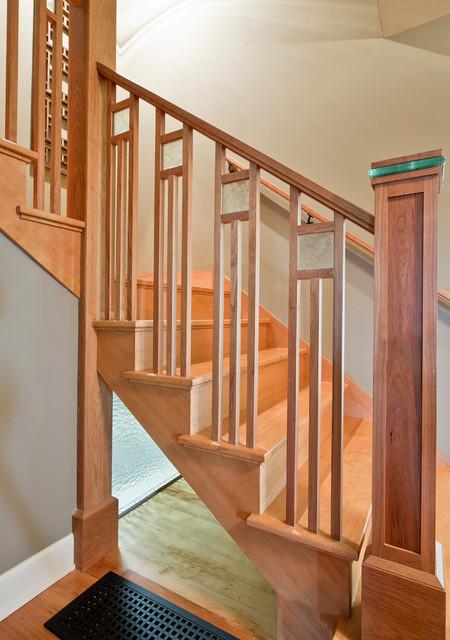 Attractive Modern Craftsman Design Craftsman Staircase