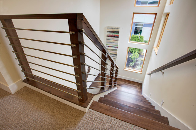 Modern Curb Wall Contemporary Staircase Seattle By