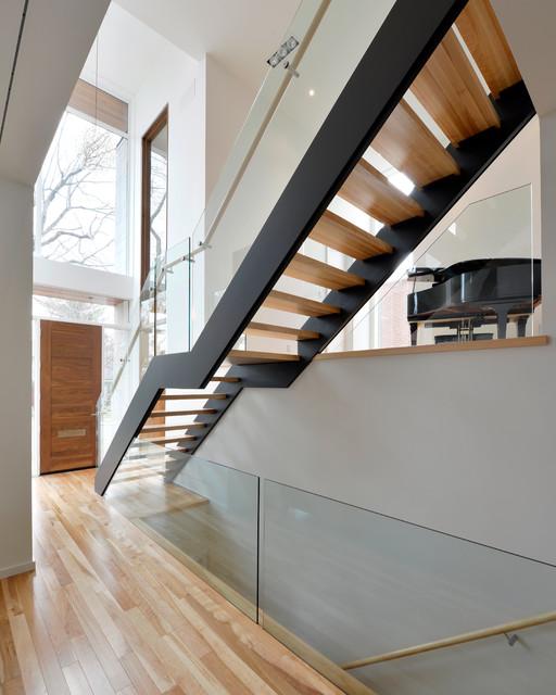 Modern Custom Home Modern Staircase Ottawa By