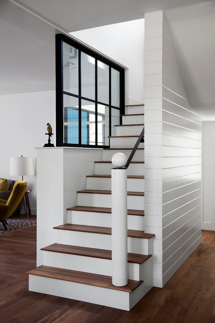 Modern Farm House Farmhouse Staircase Austin By