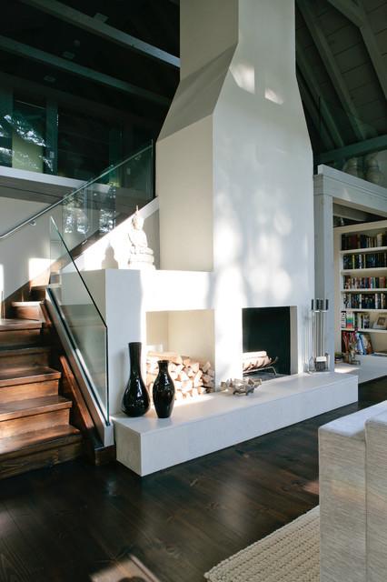 Nyc Loft Room Entertainment Wall Ideas With Fireplace Interior Design: Modern Farmhouse