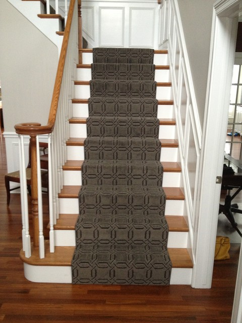 Modern Gray traditional-staircase