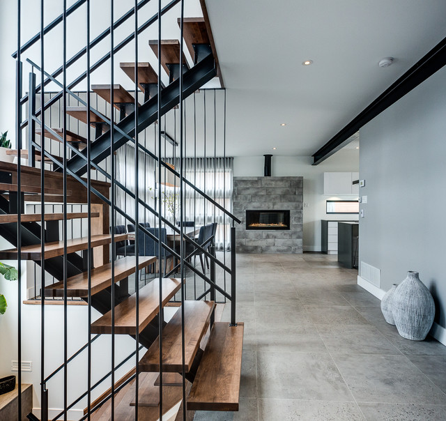 Modern Home In Montreal Contemporary Staircase