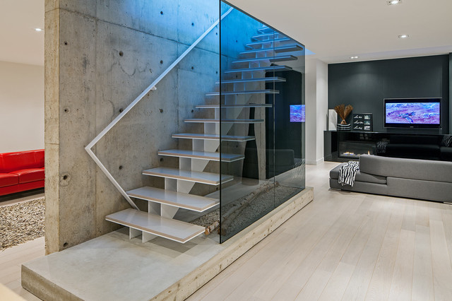 Modern home in oakville ontario scandinavian staircase toronto by peter a sellar Home decor jobs toronto