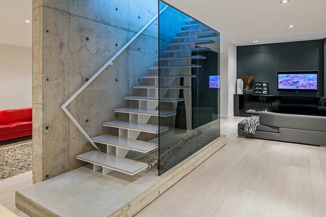 Modern Home In Oakville Ontario Scandinavian Staircase
