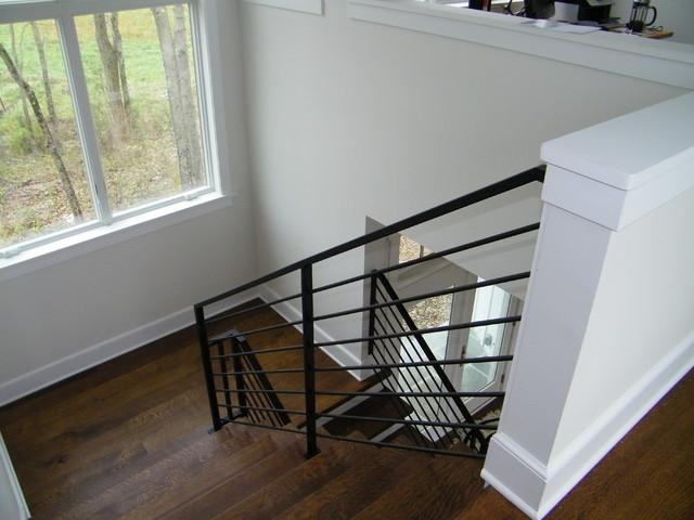 Modern Interior Metal Railing Contemporary Staircase