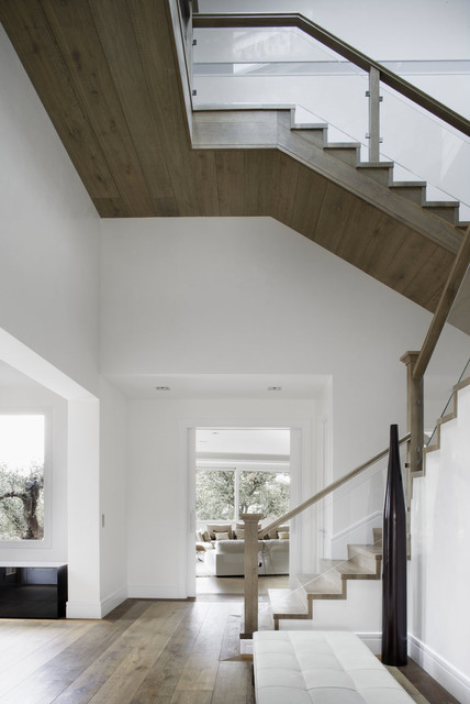 Modern Mediterranean House Contemporary Staircase Madrid by