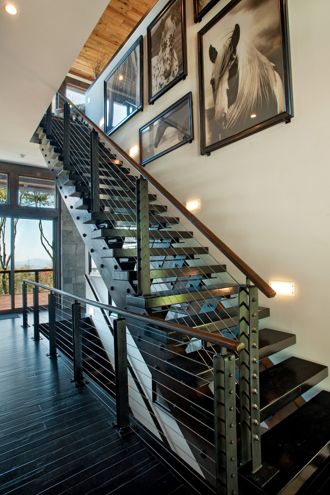 Staircase - contemporary staircase idea in Charlotte