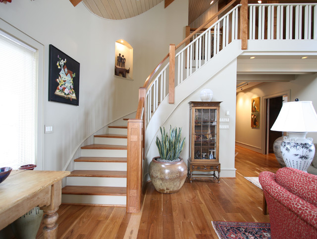 Modern Mountain Home Traditional Staircase Charlotte