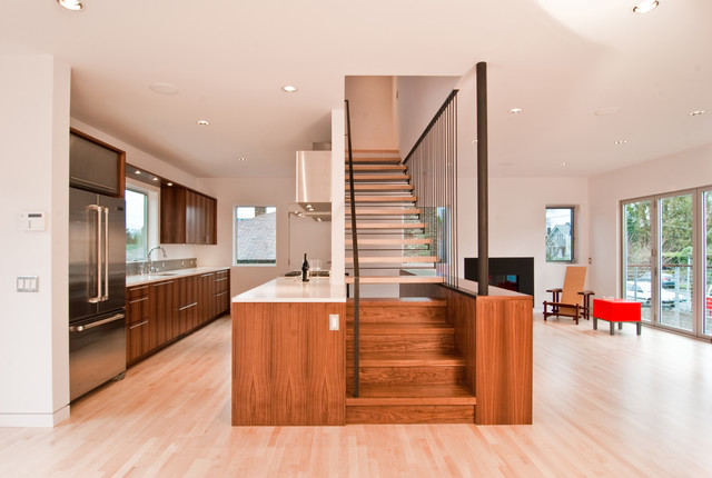 Modern Stair By BUILD LLC Staircase Seattle