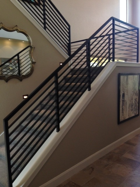 Modern Stair Railings Contemporary Staircase Austin By San