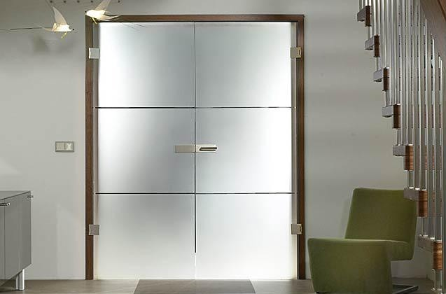 "Full Glass Doors - ""Finea"" - Modern - Staircase - miami - by Bartels Doors & Hardware"