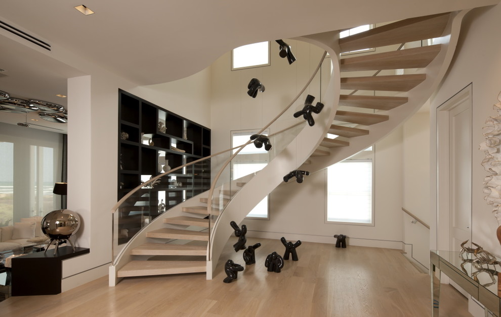 Staircase - modern open staircase idea in Other