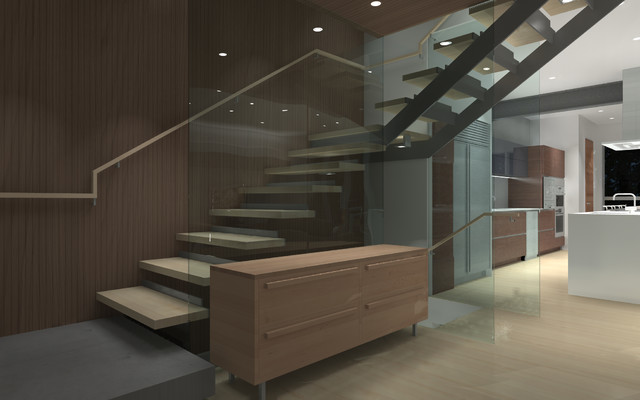 Cantilevered Stair modern-staircase