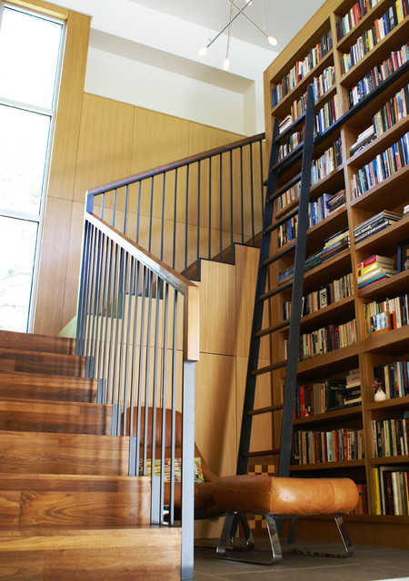 Vance lane modern home modern staircase austin by Home interiors portrack lane