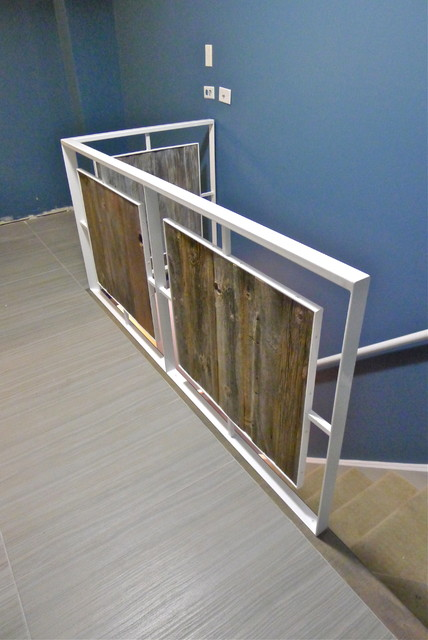 Amazing Modern Steel And Wood Stair Railing @ Delane + Chuckyu0027s Contemporary  Staircase