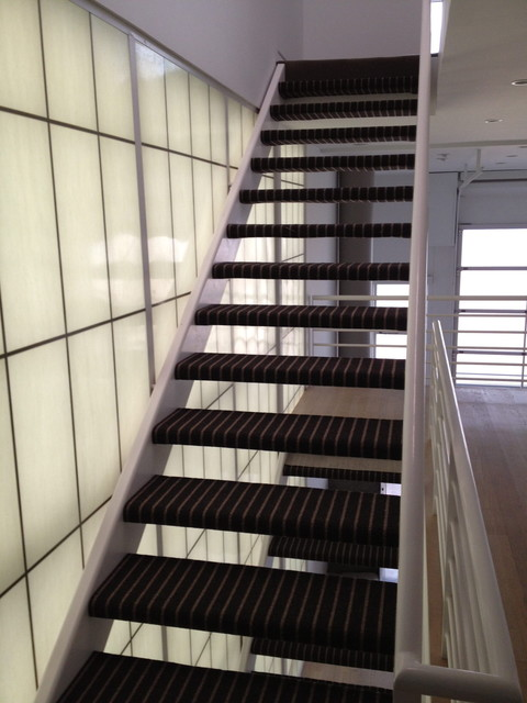 Modern Wrapped Stairs Contemporary Staircase Los