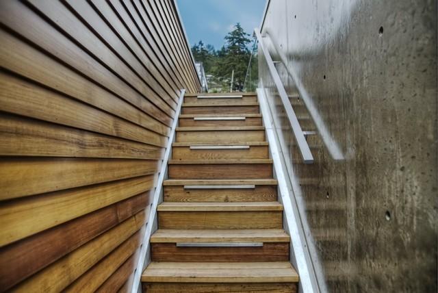 Modernist White Rock Residence modern-staircase