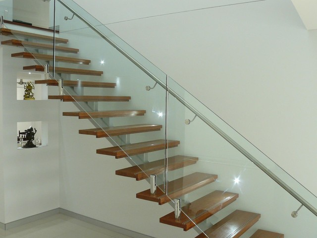 Mono String Steel Staircase Contemporary Sydney By Builders