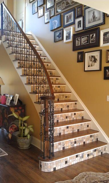 Mosaic Staircase Modern Staircase