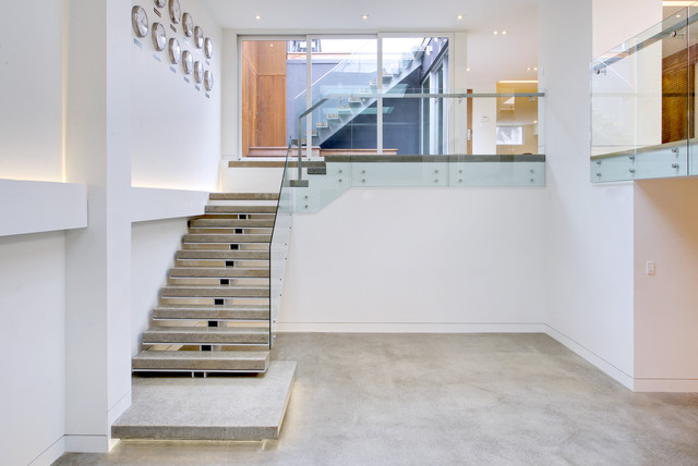 Mount Pleasant House Double Height Performance Space Scandinavian Staircase Toronto By Roundabout Studio Inc Houzz Au