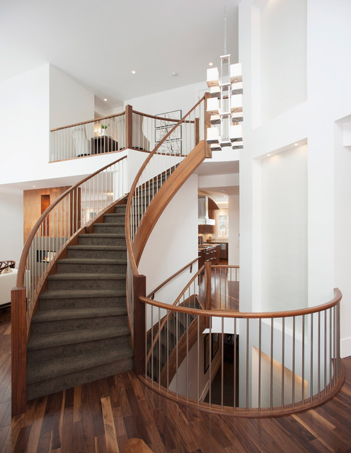 Mount Royal Show Home Contemporary Staircase Calgary By Maillot Homes