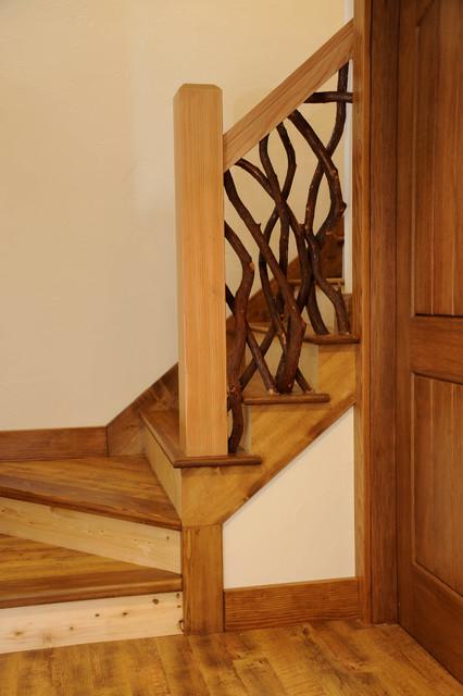 Rustic Mountian Stair Railings: Mountain Ivy Railing