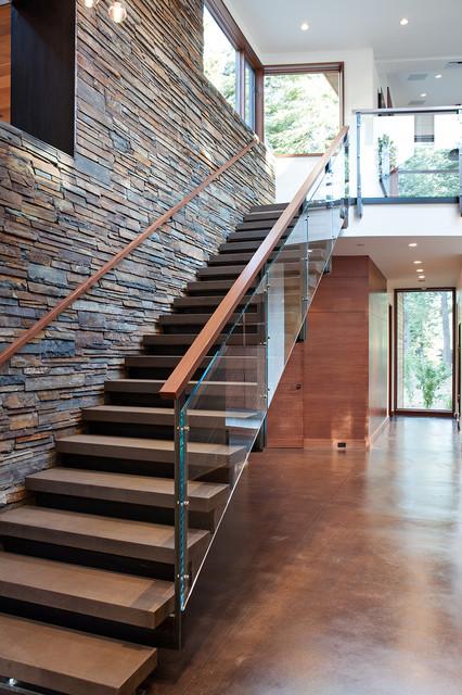 Mountain Modern Digs Contemporary Staircase