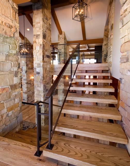 Mountain Modern contemporary-staircase